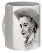 Donna Douglas, Vintage Actress By John Springfield Coffee Mug