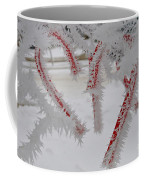 Don't Break My Heart-unique And Rare Formation Of Spiked Snow Icicles  Coffee Mug