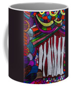 Doodle Page 6 - Bones And Curtains - Ink Abstract Coffee Mug