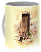 Door With Flowers Coffee Mug