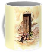 Door With Flowers Coffee Mug