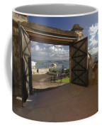 Doors Open To View Of San Juan Coffee Mug