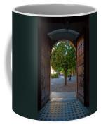 Doorway And Arch Between Gardens Coffee Mug