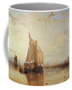 Dort Or Dordrecht The Dort Packet Boat From Rotterdam Becalmed Coffee Mug