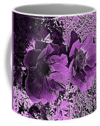 Double Poppies In Purple Coffee Mug