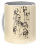 Double Portrait With Skeleton (doppelbildnis Mit Skelett) Coffee Mug