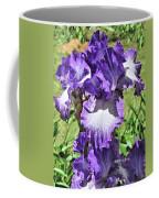 Double Ruffled Purple Iris Coffee Mug