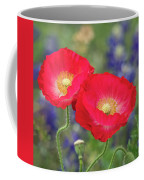 Double Take-two Red Poppies. Coffee Mug