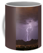 Double Trouble Fine Art Lightning Photography Coffee Mug