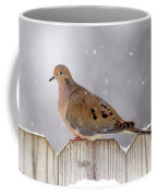 Dove In The Snow Coffee Mug
