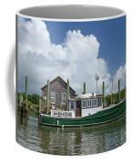 Downeast Style Yacht Docked On Shem Creek In Charleston Coffee Mug