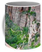 Downhill Switchbacks From Angels Landing Coffee Mug