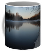Downstream Mississippi River After Ice Out Coffee Mug
