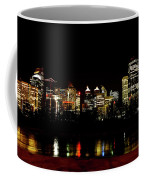 Downtown Calgary At Night Coffee Mug
