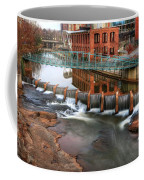 Downtown Greenville On The River Winter Coffee Mug