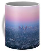 Downtown Los Angeles Skyline At Sunset Coffee Mug
