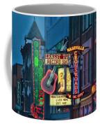 Downtown Nashville At Dusk Coffee Mug