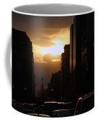 Downtown Sunset From Parking Lot Coffee Mug