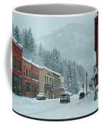 Downtown Wallace In Winter 2017 Coffee Mug