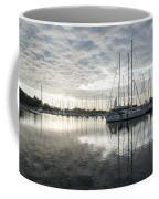Downy Soft Clouds At The Marina Coffee Mug