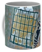Downy Woodpecker In The Snow Coffee Mug