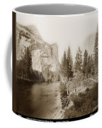 Domes And Royal Arches From Merced River Yosemite Valley Calif. Circa 1890 Coffee Mug