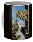 Dragon And Umbrella Sing In Barcelona Coffee Mug