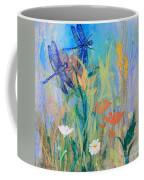 Dragonflies In Wild Garden Coffee Mug