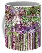 Dragonfly Bloomies 3 - Pink Coffee Mug