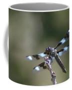Dragonfly Hanging On  Coffee Mug