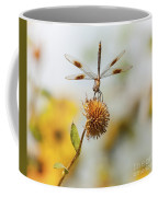 Dragonfly On Dead Bud Coffee Mug