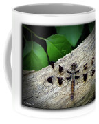 Dragonfly On Log Coffee Mug