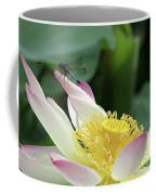 Dragonfly On Lotus Coffee Mug