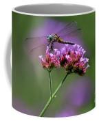 Dragonfly On Purple Verbena Coffee Mug