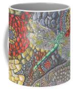 Dragonfly On Stone Path Coffee Mug