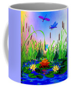 Dragonfly Pond Coffee Mug by Hanne Lore Koehler