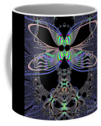 Dragonfly Queen At Midnight Fractal 161 Coffee Mug