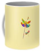 Dragonfly Watercolor Art Coffee Mug