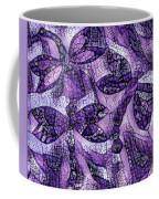 Dragons In Lavender Mosaic Coffee Mug