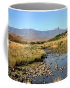 Drakensberg Amphitheatre Mountain Range In Kwazulu Natal, South Africa Coffee Mug