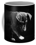 Dramatic Black And White Puppy Dog Coffee Mug