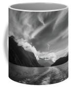 Dramatic Clouds And Alpine Scenery At Lake Manapouri  Coffee Mug