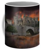 Dramatic Sky Over Castell Conwy Coffee Mug