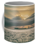 Dramatic Sky Over Hurst Castle Coffee Mug