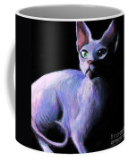 Dramatic Sphynx Cat Print Painting Coffee Mug