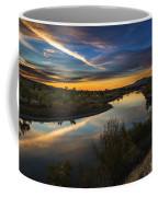 Dramatic Sunset Over Boise River Boise Idaho Coffee Mug