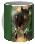 Dream Catcher - Spirit Of The Black Bear Coffee Mug