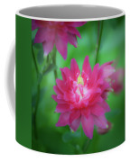 Dreamy Hot Pink Columbine Squared Coffee Mug
