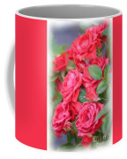 Dreamy Red Roses - Digital Art Coffee Mug