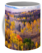 Dreamy Rocky Mountain Autumn View Coffee Mug